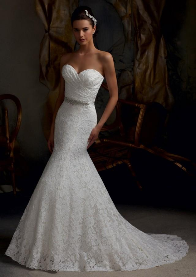 wedding photo - Wanweier - silk wedding dresses, Discounts Elegant Embroidered Lace Online Sales in 58weddingdress