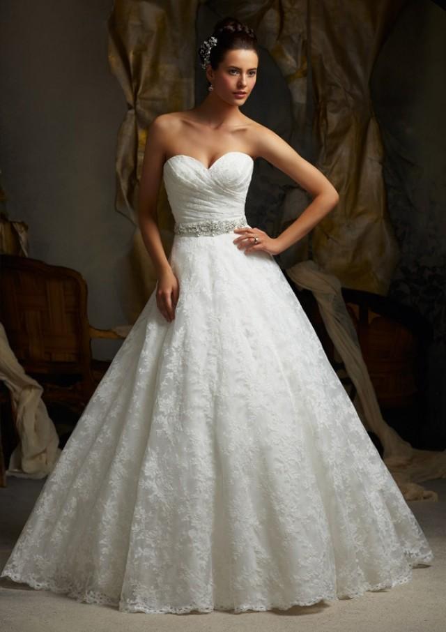 wedding photo - Wanweier - wedding dress online shop, Hot Alencon Lace Online Sales in 58weddingdress