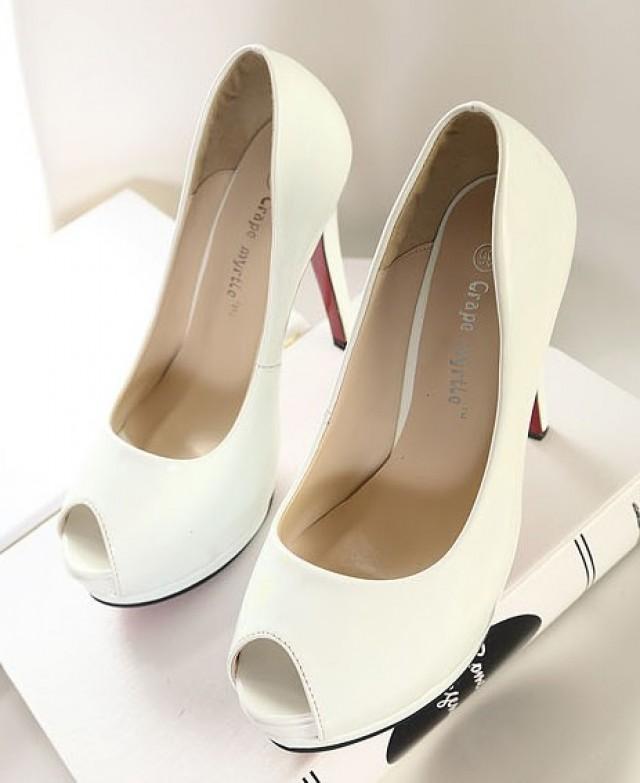 wedding photo - Fashion Style Waterproof Thin Heels Shoes Black Black PM0246