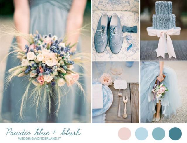 Matrimonio Azzurro Ortensia : Inspiration board matrimonio azzurro polvere e rosa weddbook