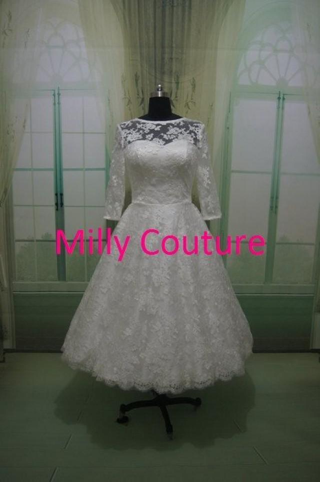 Isabella spitze kurzes hochzeits kleid retro inspirierte for 50 s style short wedding dresses