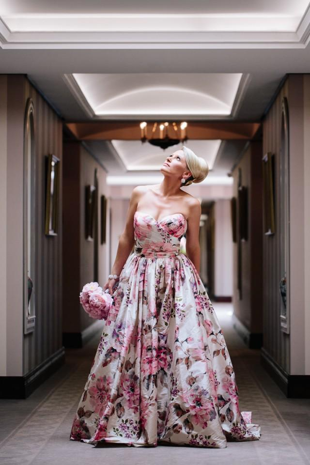 wedding photo - Spectacular coloured wedding dress