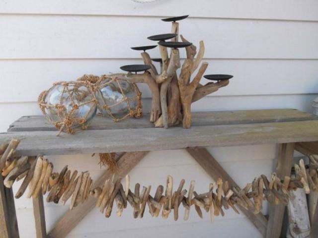 Driftwood Decor.7 Candle Holder. Nautical Decor. Wedding. Beach Cottage For  Coastal Living By Searchnrescue2 #2127530   Weddbook