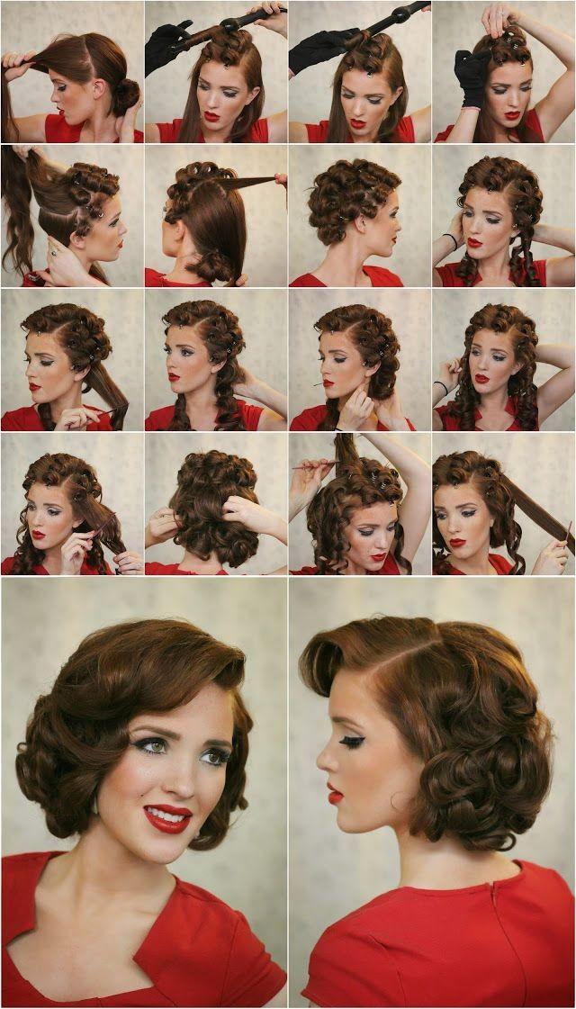 Причёски в стиле стиляг как сделать