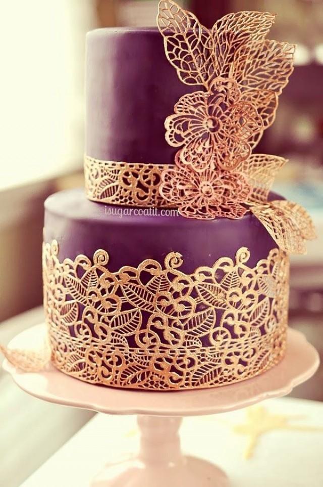 Украшаем торты кружевами