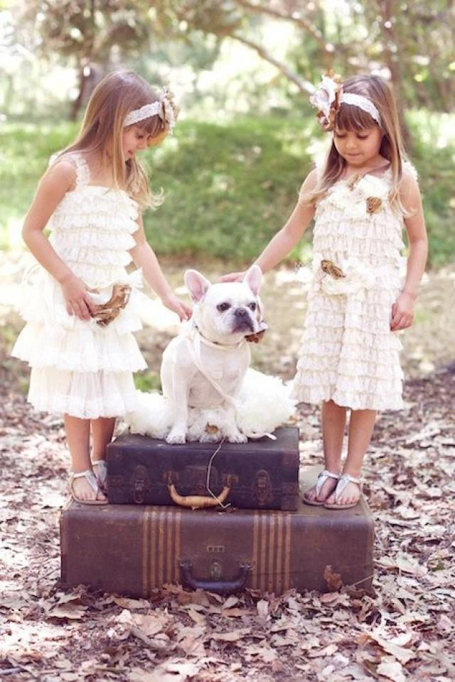 Flower girl dresses ivory lace flower girl dress for Country wedding flower girl dresses