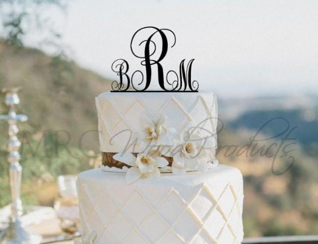 Wedding Cake Topper Personalized Monogram Cake Topper 2133606