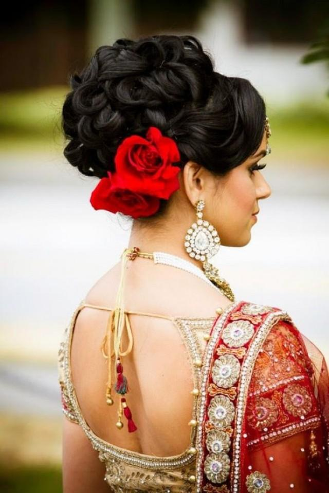 wedding photo - Indian Wedding Hairstyles: The Up Do