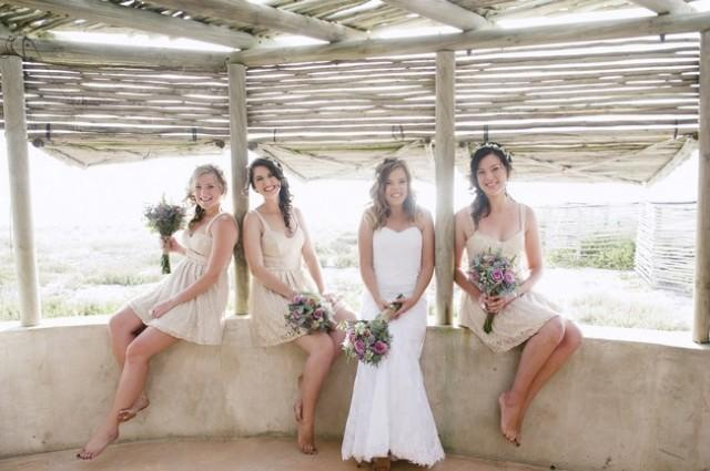 Couple S Wedding Ceremony And Reception Held At The Beach: Rustic, Barefoot Beach Wedding In Lamberts Bay {Jules