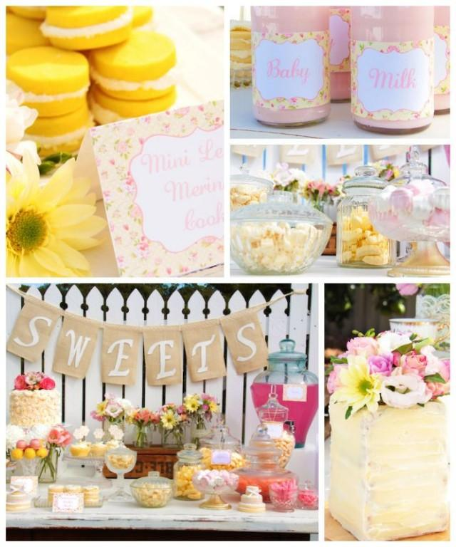 pastel baby shower party styling planning ideas cake 2135045
