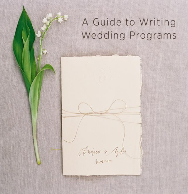 Wedding Program Wording  Wedding Ideas  OncewedCom  Weddbook