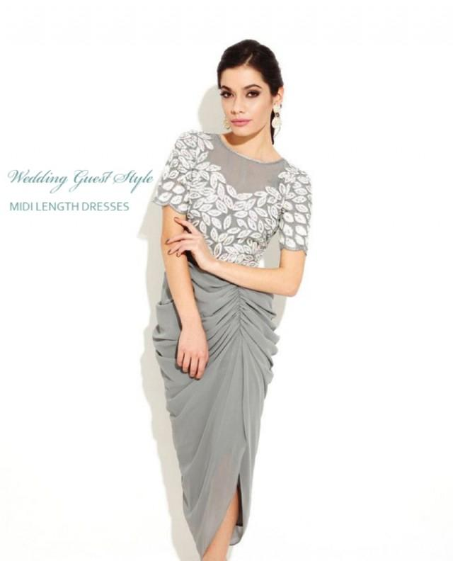Wedding guest style midi length dresses fly away bride for Midi length wedding dress