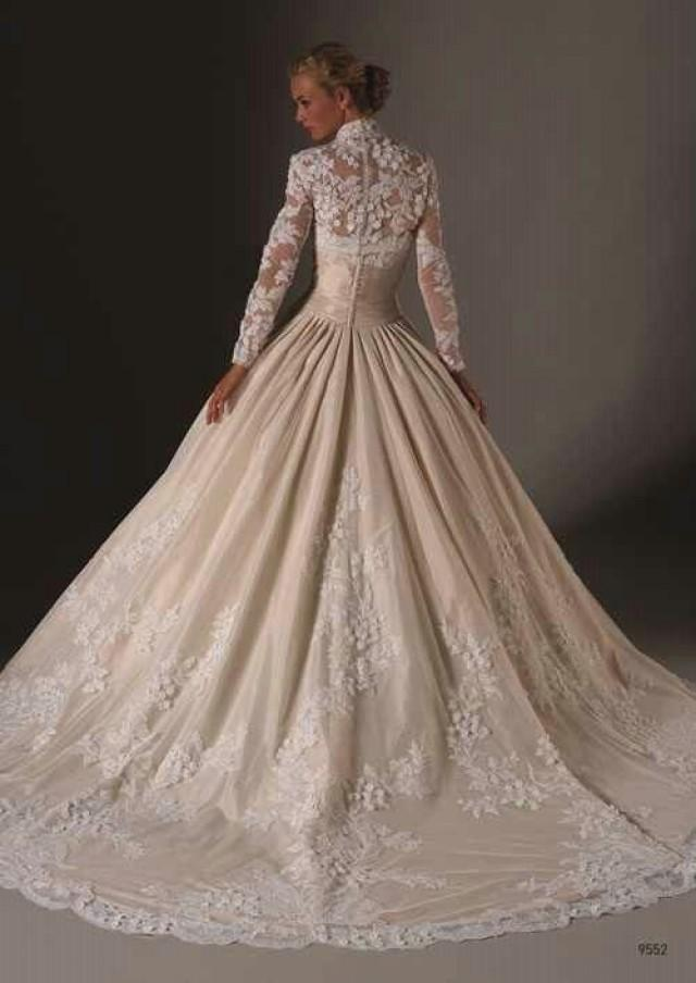 Long Sleeved Amp 3 4 Length Sleeve Wedding Gown Inspiration 2139468