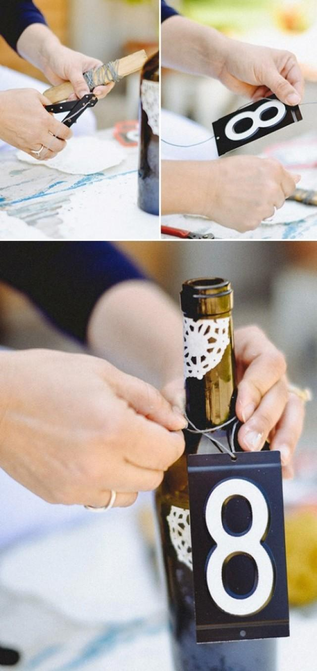 Chic Diy Wine Bottle Table