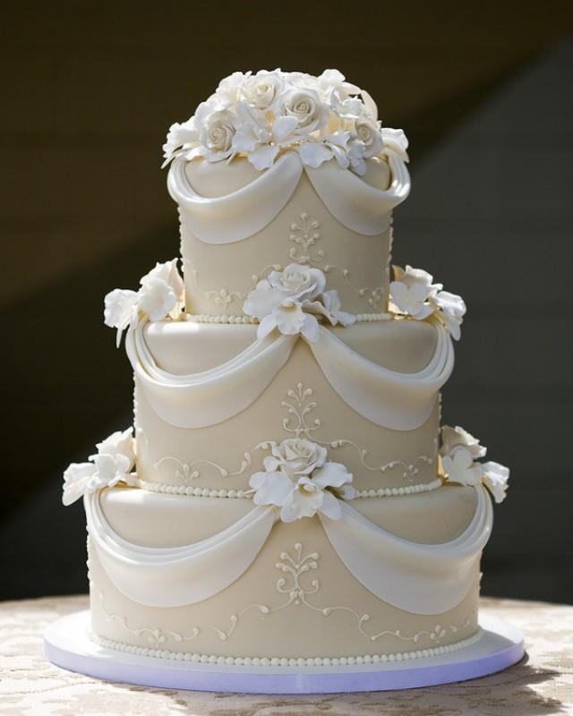 White & Gold Wedding Cakes #2139952
