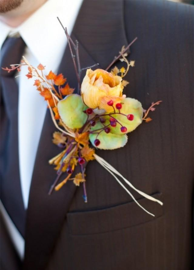 42 Beautiful Fall Wedding Boutonnieres | Weddingomania - Weddbook