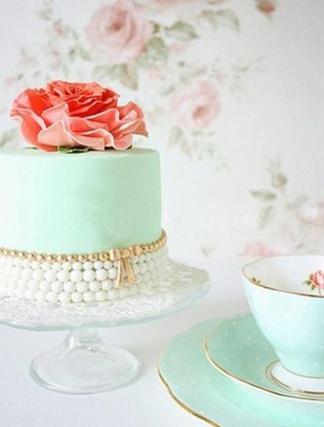 Mint Wedding - 8 DIY Vintage Cake Accessory Ideas #2141316 ...