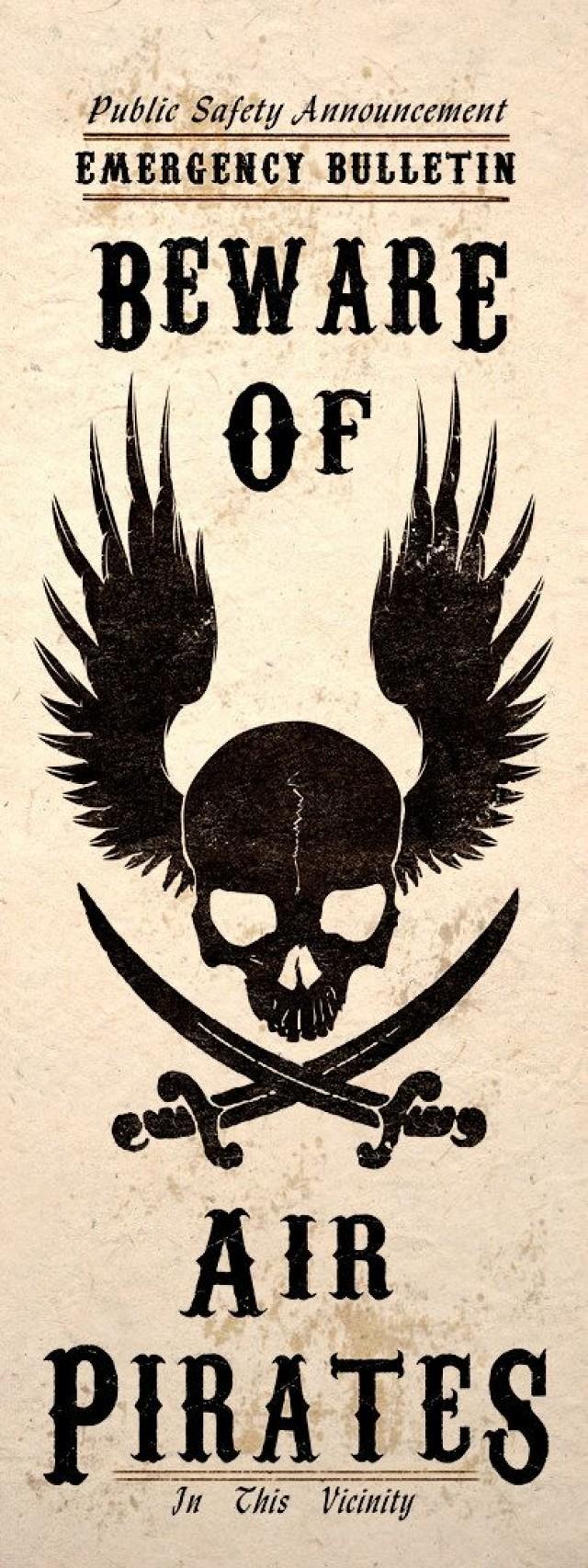 Steampunk Art Print Beware Air