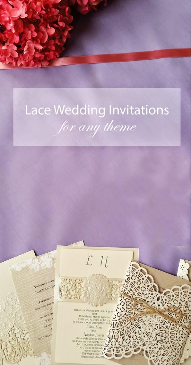 Lace Wedding Invitations A Fit For Every Theme