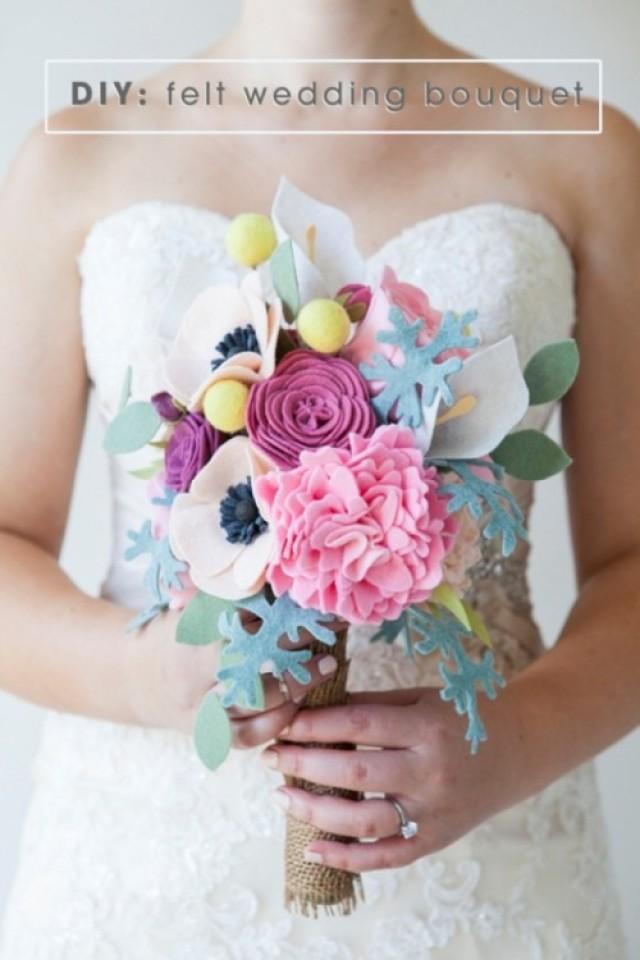 Unique Diy Bridal Bouquets : Amazing and unique diy felt wedding bouquet