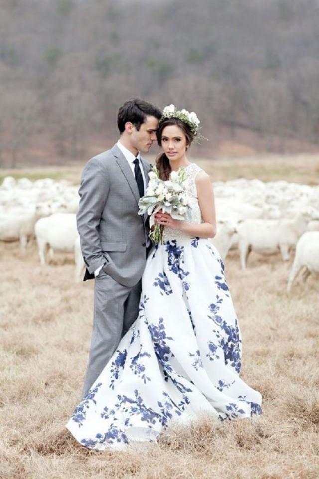 The Hottest Wedding Trend 21 Patterned Dresses Weddingomania Weddbook