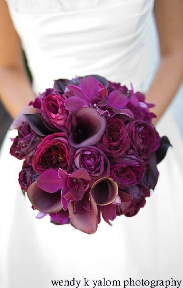 Beautiful Purple Wedding Bouquets Different Shades Of Flower Bouquet