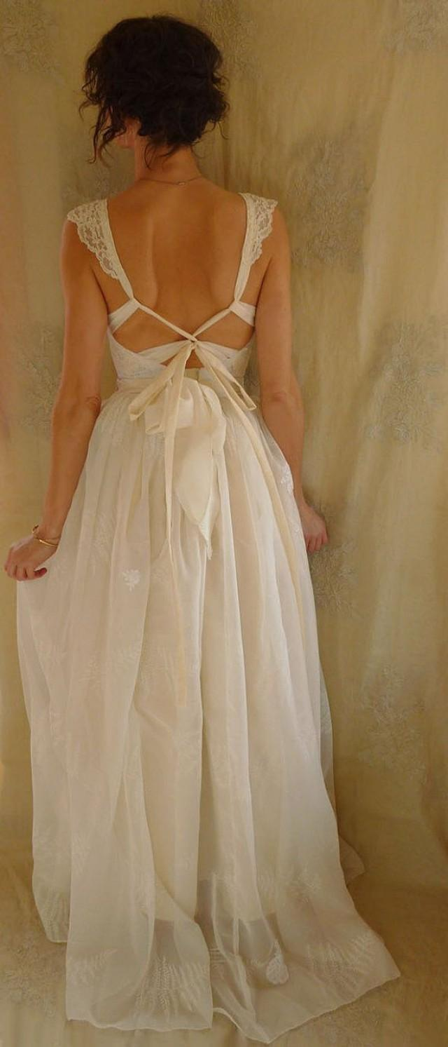 Reserved fern bustier wedding gown whimsical dress for Woodland fairy wedding dress