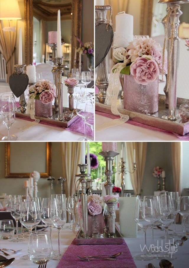 Kerzenst nder mieten 2145383 weddbook - Hochzeitsdeko grau rosa ...
