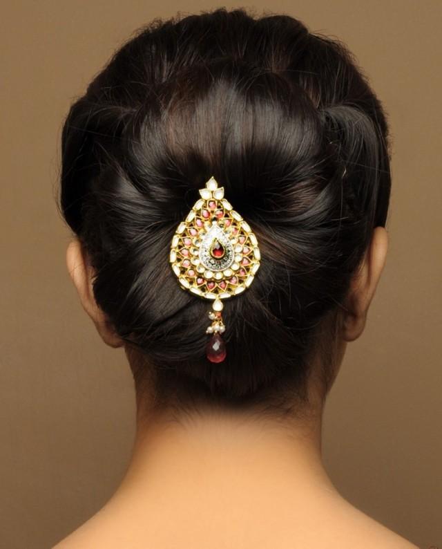 Индийские прически для средних волос