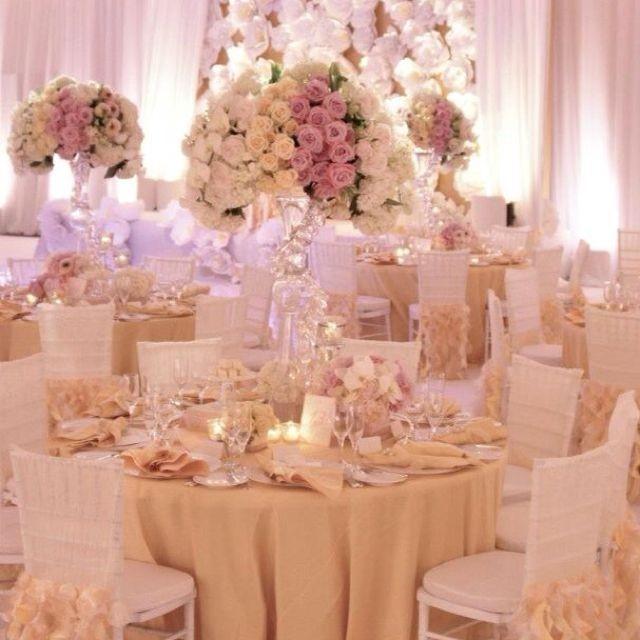 Бежевый декор свадьбы