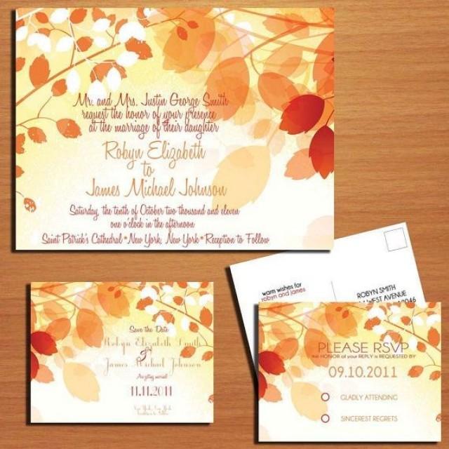 fall branches/ autumn wedding collection / invitation / rsvp, Einladungen
