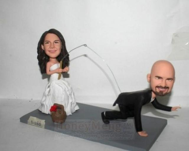 Funny Cake Topper Fishing Themed Wedding Topper 2149401 Weddbook