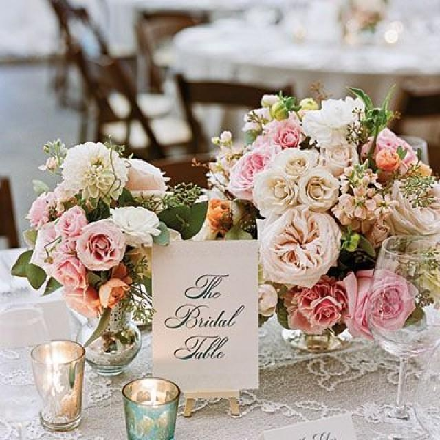 Vintage Wedding Centerpieces Ideas: Romantic Vintage Centerpiece #2149682