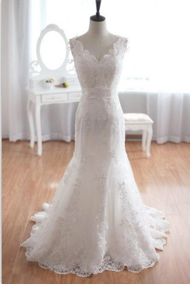Taffeta lace wedding dress mermaid bridal gown 2150207 for Taffeta mermaid wedding dress