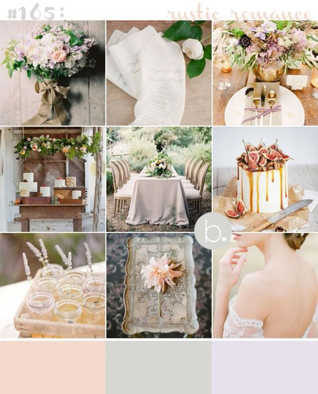 Romantic Rustic Wedding Inspiration: Muted Blush, Lilac And Sage Rustic & Romantic Wedding