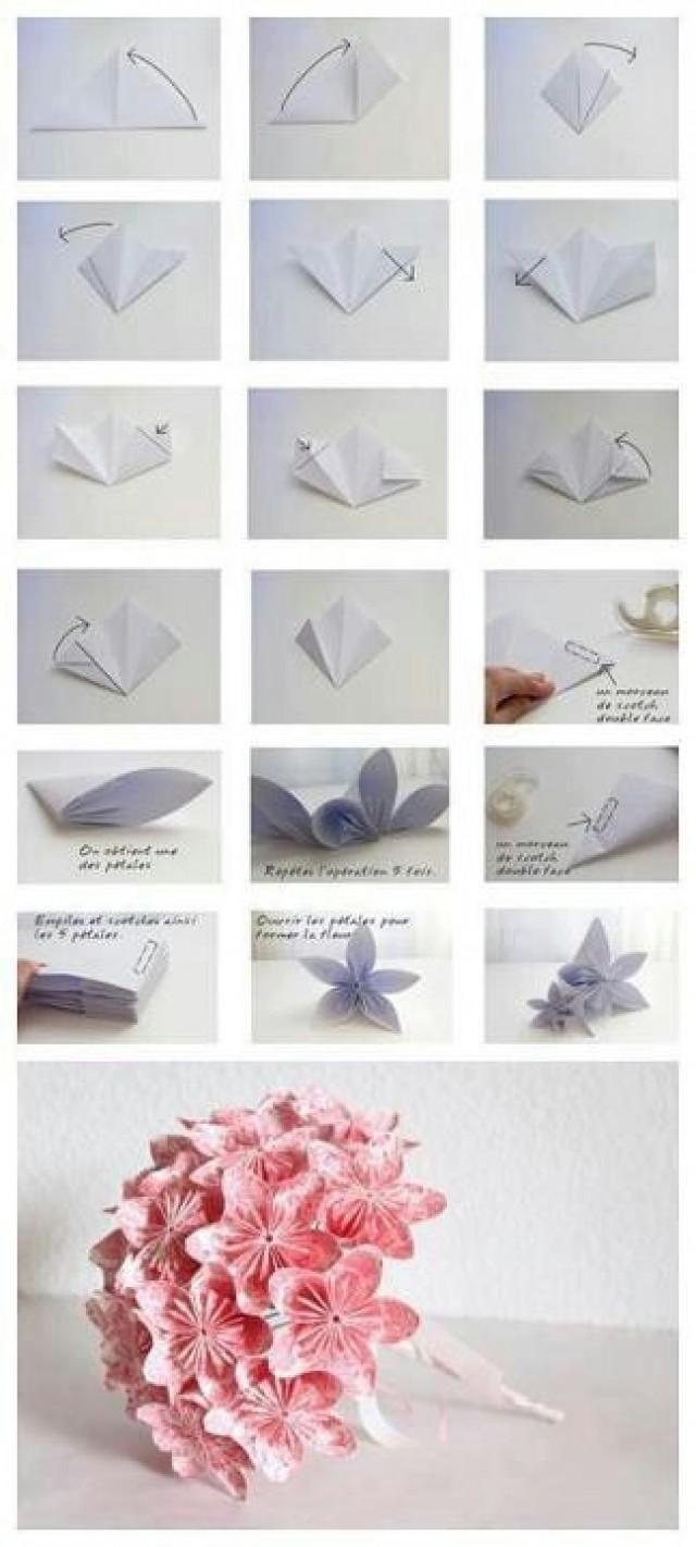 Цветочки из бумаги легко