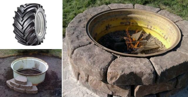 How To Make Tractor Wheel Fire Pit Diy Amp Crafts