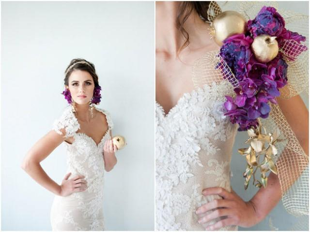 Radiant Bride Wedding Video Photography: Styling The Bold, Passionate Bride {Radiant Orchid & Gold