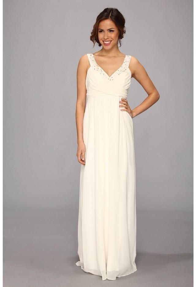 Nicole miller double face satin silk georgette bridal for Silk georgette wedding dress