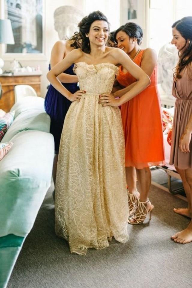 60a1479d53a 23 Fabulous Gold Wedding Dresses