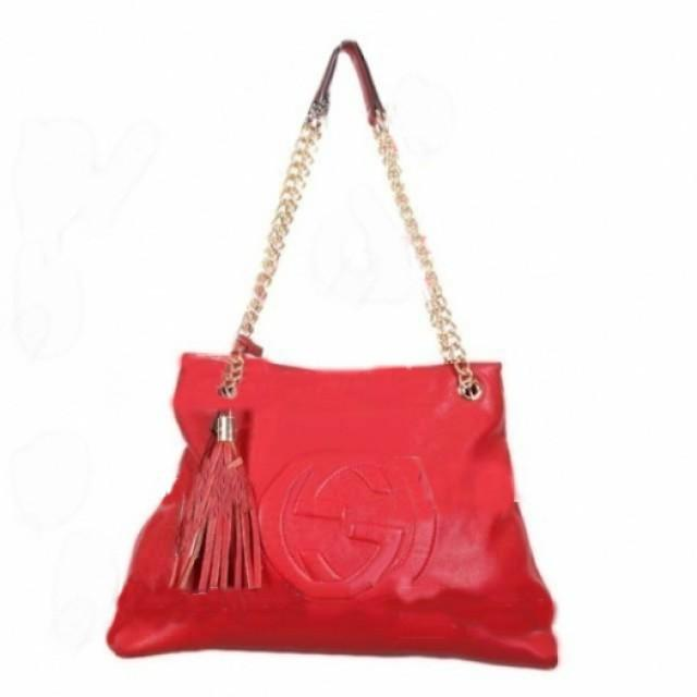 wedding photo - GUCCI Red Shoulder bag with Chain Straps
