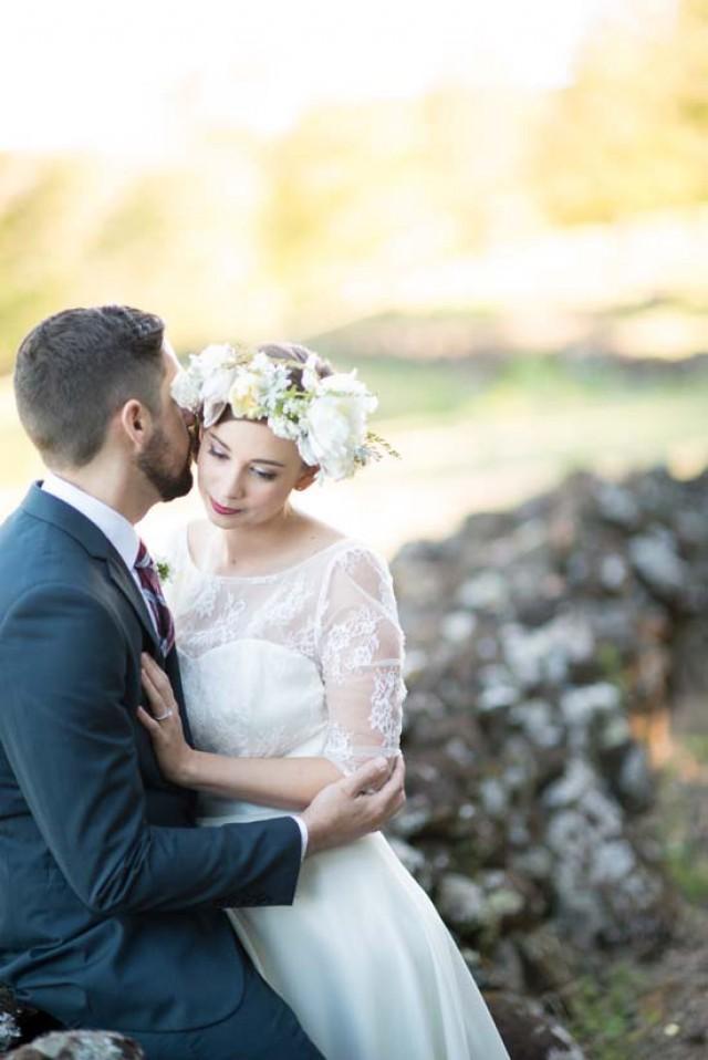 Romantic 1950s Wedding Inspiration Polka Dot Bride