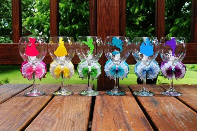 Disney Princess Sleeping Beauty Aurora Wine Glass Bride