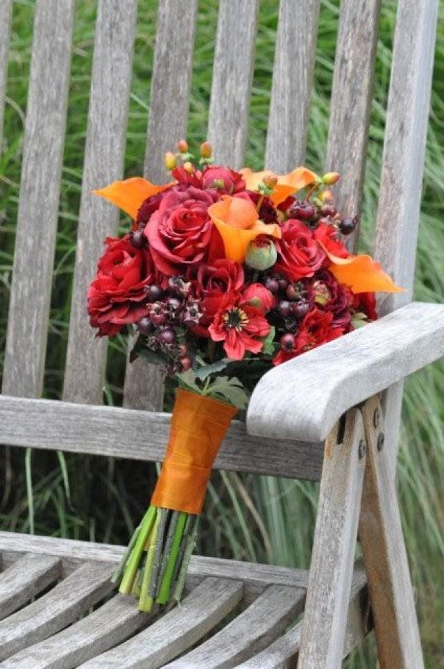 Fall Wedding Bouquets Fake : Pics photos silk flowers fall wedding bouquet