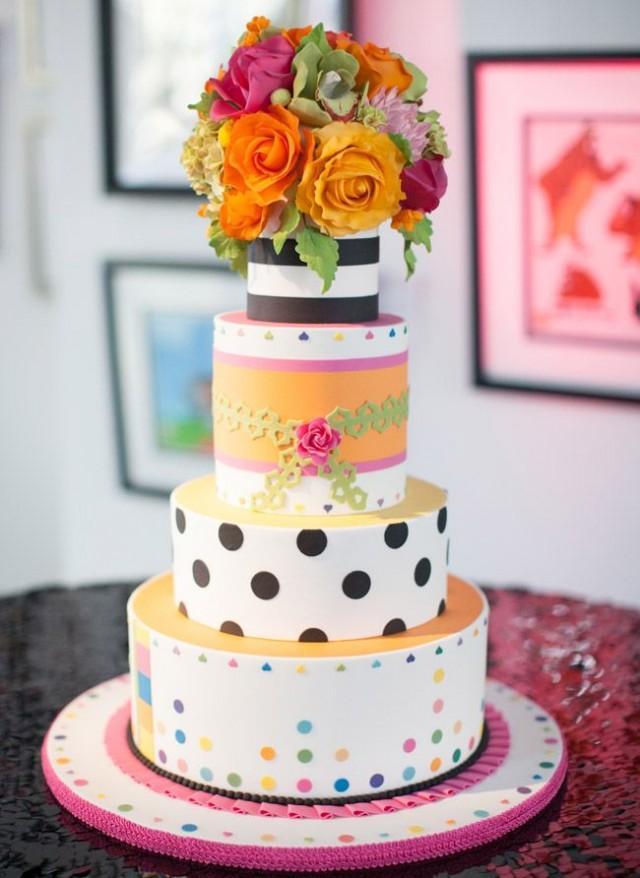 Cake - 15 Pop Art Wedding Ideas To Steal Now #2162381 ...