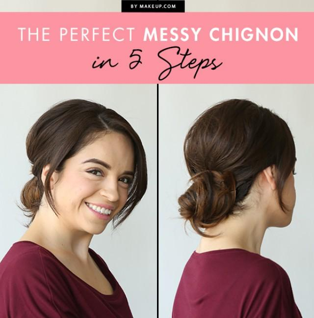 The Perfect Messy Chignon In 5 Steps