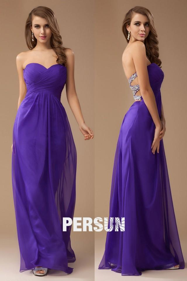 wedding photo - Sexy Backless Ruched Empire A line Long Bridesmaid Dress