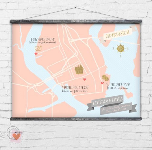 wedding photo - Custom Wedding Map