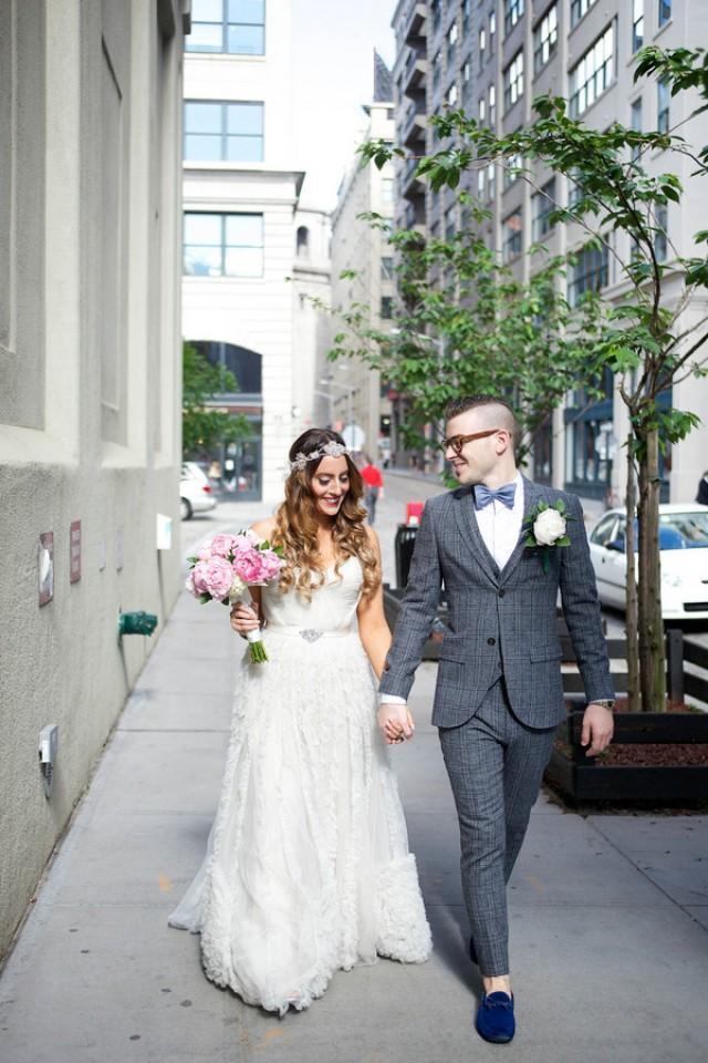 Real Wedding: Jennifer + Daniel Brooklyn Bride Modern