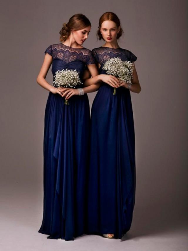wedding photo - Floor-length Chiffon Bridesmaid Dress